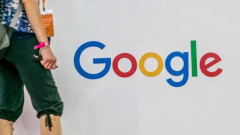 --FILE--A visitor walks past the stand of Google during an exhibition in Shanghai, China, 24 August 2016.  Google's new office in Shenzhen city, south China's Guangdong province, is intended to foster the U.S. search engine's hardware development, a senior company executive said on Tuesday (6 February 2018). The new office in Shenzhen, known as China's Silicon Valley, will not be a technology research facility but will instead facilitate hardware development efforts between Google and other high-technology companies in the city, Scott Beaumont, Google's greater China president, told reporters at an event in Beijing held to release the BrandZ Top 50 Chinese Global Brand Builders report.
