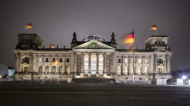 The Reichstag building in Berlin,Germany,  22.01.2018. (long time exposure) | usage worldwide