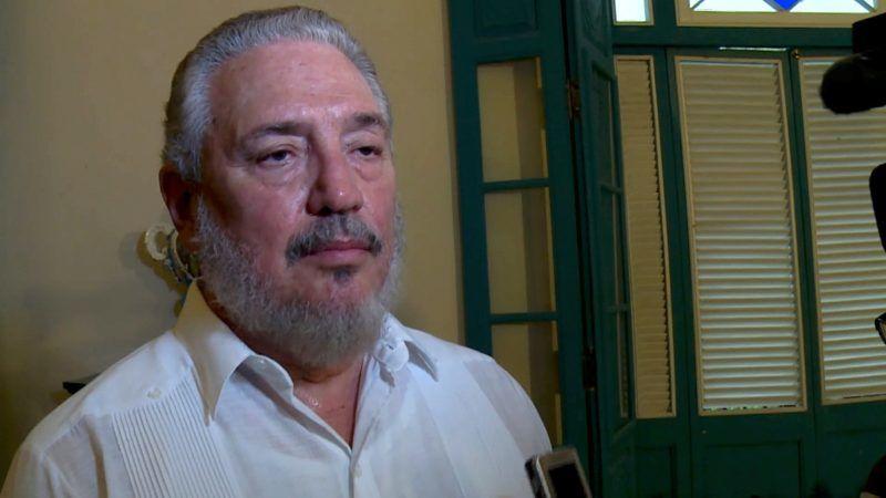 File photo taken on June 1, 2016 of Cuban Fidel Castro Diaz-Balart, son of Cuban leader Fidel Castro. Fidel Castro's eldest son committed suicide: Cuba state media on February 1, 2018. / AFP PHOTO / ADALBERTO ROQUE