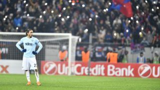 Lazio's Martin Caceres during UEFA Europa League Round of 32 match between Steaua Bucharest and Lazio at the National Arena on February 15, 2018 in Bucharest, Romania. (Photo by Alex Nicodim/NurPhoto)