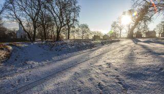Börzönce, 2016. december 26. Napsütés a reggeli órákban a Zala megyei Börzöncénél karácsony másnapján, 2016. december 26-án. MTI Fotó: Varga György