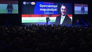 Budapest, 2018. február 17. Gyurcsány Ferenc pártelnök beszél a Demokratikus Koalíció (DK) budapesti kampánynyitó rendezvényén 2018. február 17-én. MTI Fotó: Máthé Zoltán