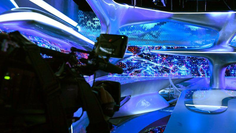 Echo TV stúdió. Fotó: MTI