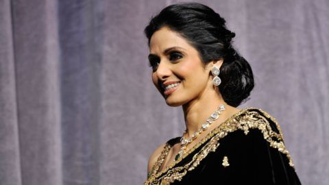 """TORONTO, ON - SEPTEMBER 14:  Actress Sridevi Kapoor attends the """"English Vinglish"""" premiere during the 2012 Toronto International Film Festival at Roy Thomson Hall on September 14, 2012 in Toronto, Canada.  (Photo by Jag Gundu/Getty Images)"""