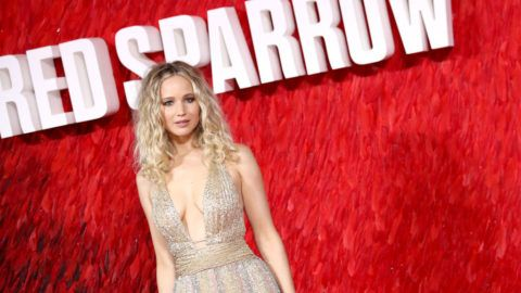 LONDON, ENGLAND - FEBRUARY 19:  Jennifer Lawrence attneds the European Premeire of 'Red Sparrow' at Vue West End on February 19, 2018 in London, England.  (Photo by Mike Marsland/Mike Marsland/WireImage)