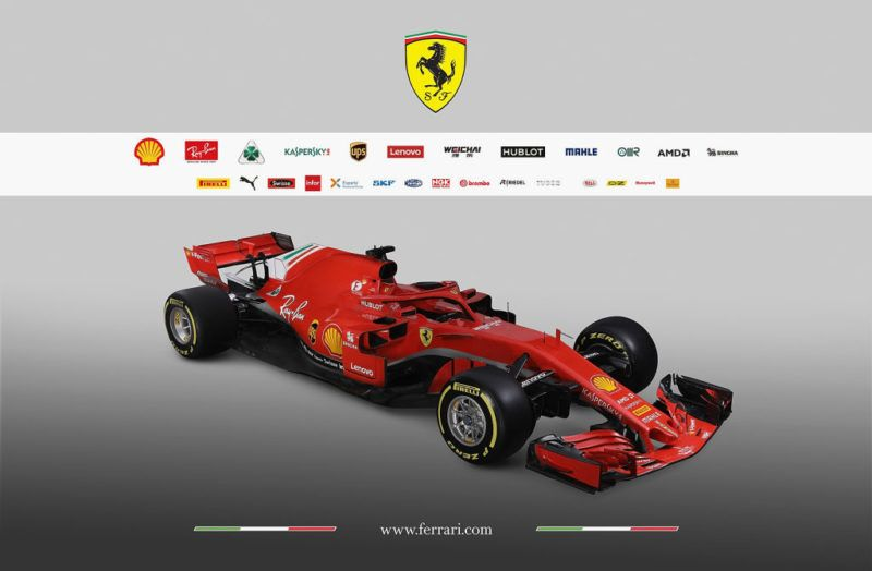 MARANELLO, ITALY - FEBRUARY 22:  In this handout photo supplied by Scuderia Ferrari F1, the team unveil their new Ferrari SF71H Formula One car on February 22, 2018 in Maranello, Italy.  (Photo by Handout/Getty Images)