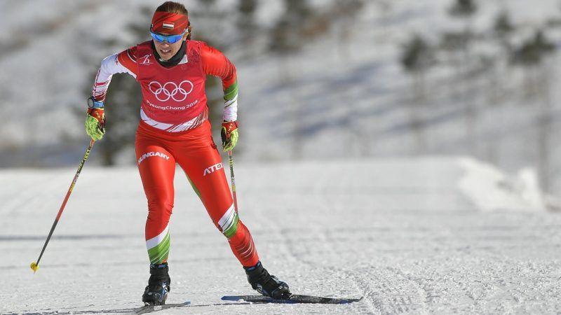 Phjongcshang, 2018. február 7. Szõcs Emõke sífutó edz a phjongcshangi Alpensia Sífutó Központban 2018. február 7-én.  A 2018-as téli olimpiát február 9. és 25. között rendezik több dél-koreai helyszínen. MTI Fotó: Czeglédi Zsolt
