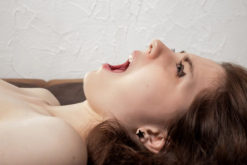 Beautiful aroused girl have orgasm and screaming