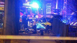 Budapest, 2018. február 16. Ütközésben összetört rendõrautó a IV. kerületben a Fóti út és a Leiningen Károly utca keresztezõdésében 2018. február 16-án. A jármû eddig tisztázatlan körülmények között ütközött össze egy másik rendõrautóval. A balesetben egy rendõr a helyszínen életét vesztette, további három pedig megsérült. MTI Fotó: Mihádák Zoltán
