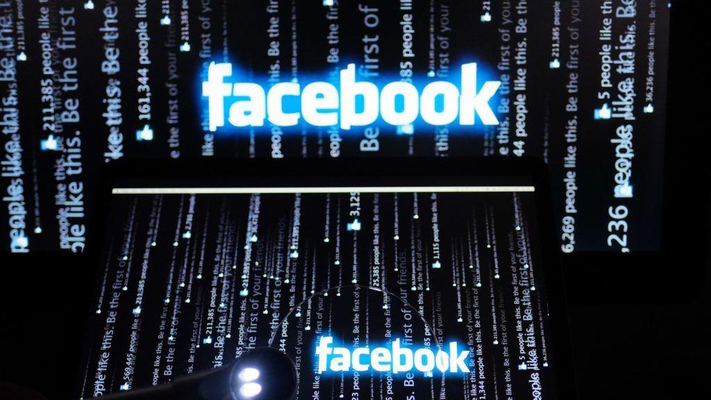 3028969 02/15/2017 Facebook logo on a computer screen. Natalia Seliverstova/Sputnik