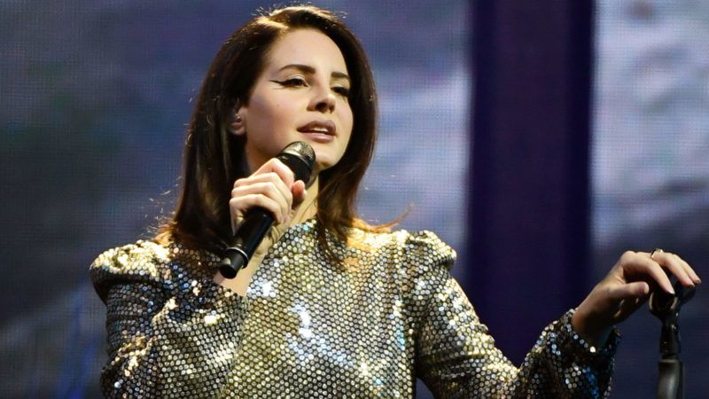 """LAS VEGAS, NV - FEBRUARY 16: Singer/songwriter Lana Del Rey performs during a stop of her LA to the Moon Tour in support of the album """"Lust for Life"""" at the Mandalay Bay Events Center on February 16, 2018 in Las Vegas, Nevada.   Ethan Miller/Getty Images/AFP"""