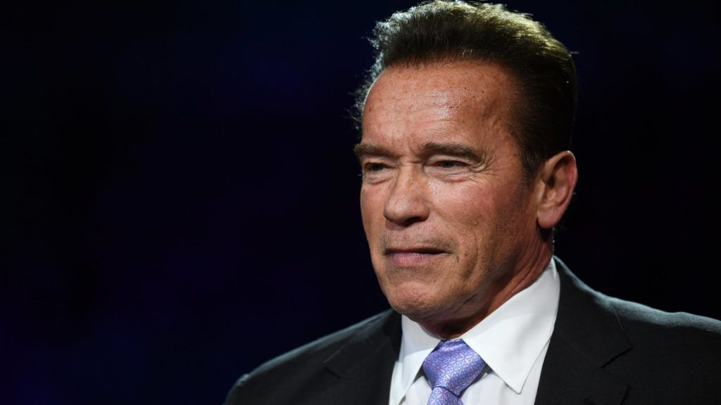 (FILES) In this file photo taken on December 12, 2017 former Governor of California and US actor Arnold Schwarzenegger speaks during a panel conference at the One Planet Summit at La Seine Musicale venue on l'ile Seguin in Boulogne-Billancourt, west of Paris. Hollywood action star Arnold Schwarzenegger is in a stable condition after undergoing emergency open-heart surgery, celebrity news website TMZ reported March 30, 2018. The 70-year-old actor turned activist was in a Los Angeles hospital March 29 to have a catheter valve replaced and developed complications, the gossip portal said, citing unnamed Schwarzenegger sources.  / AFP PHOTO / Eric FEFERBERG