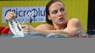 Katinka Hosszu (HUN) competes on Women's 200 m Backstroke final during the Swimming European Championship short course 2017, at Royal Arena in Copenhague, Denmark , Day 3, on December 15th, 2017 - Photo Stéphane Kempinaire / KMSP / DPPI
