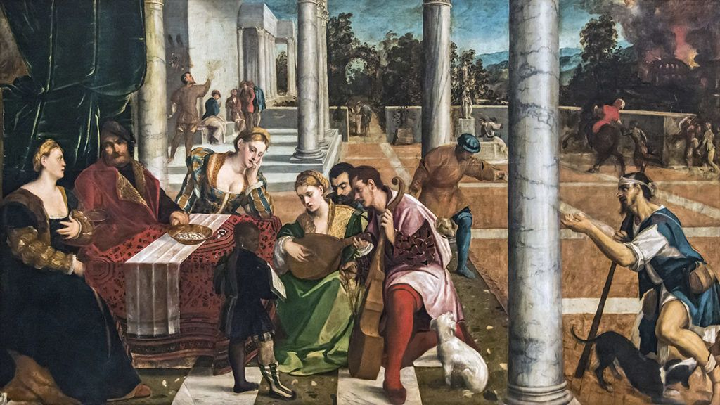 Accademia - Il ricco Epulone by Bonifacio De' Pitati cat.291