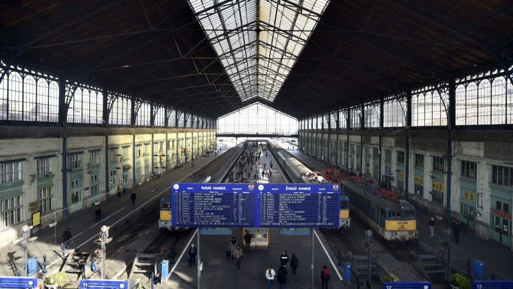 Budapest, 2017. november 2. A 140-éves a Nyugati pályaudvar csarnoka 2017. november 2-án. MTI Fotó: Máthé Zoltán