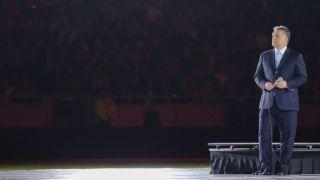 Debrecen, 2014. május 1. Orbán Viktor miniszterelnök a debreceni Nagyerdei Stadion avatóünnepségén 2014. május 1-jén. MTI Fotó: Czeglédi Zsolt