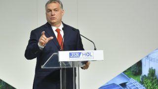 Tiszaújváros, 2018. március 19. Orbán Viktor miniszterelnök beszédet mond a Mol Nyrt. tiszaújvárosi szintetikusgumi-gyárának avatásán 2018. március 19-én. MTI Fotó: Czeglédi Zsolt