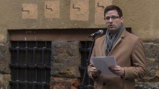 Budapest, 2018. február 23. Gulyás Gergely, a Fidesz parlamenti frakcióvezetõje beszédet mond a kommunizmus áldozatainak emléknapján a Kereszténydemokrata Néppárt rendezvényén a Gyorskocsi utcai börtön elõtt 2018. február 23-án. MTI Fotó: Szigetváry Zsolt