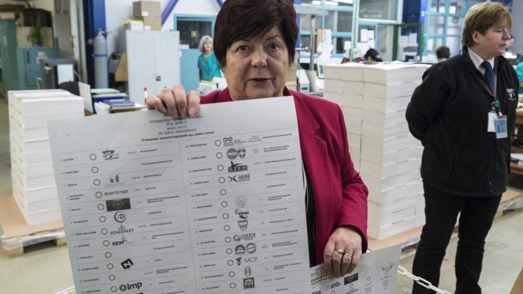 Budapest, 2018. március 22. Pálffy Ilona, a Nemzeti Választási Iroda (NVI) elnöke beszél az április 8-ai országgyûlési választás szavazólapjainak nyomtatásáról tartott sajtótájékoztatón az ÁNY Biztonsági Nyomda kõbányai telephelyén 2018. március 22-én. A nyomdában kétféle (a magyarországi és levélben szavazáshoz szükséges) országos pártlistás szavazólapot, a 106 egyéni választókerület és a 13 nemzetiség országos listás szavazólapját, vagyis összesen 121 félét készítenek. Körülbelül 18 millió szavazólap készül a nyomdában. MTI Fotó: Szigetváry Zsolt