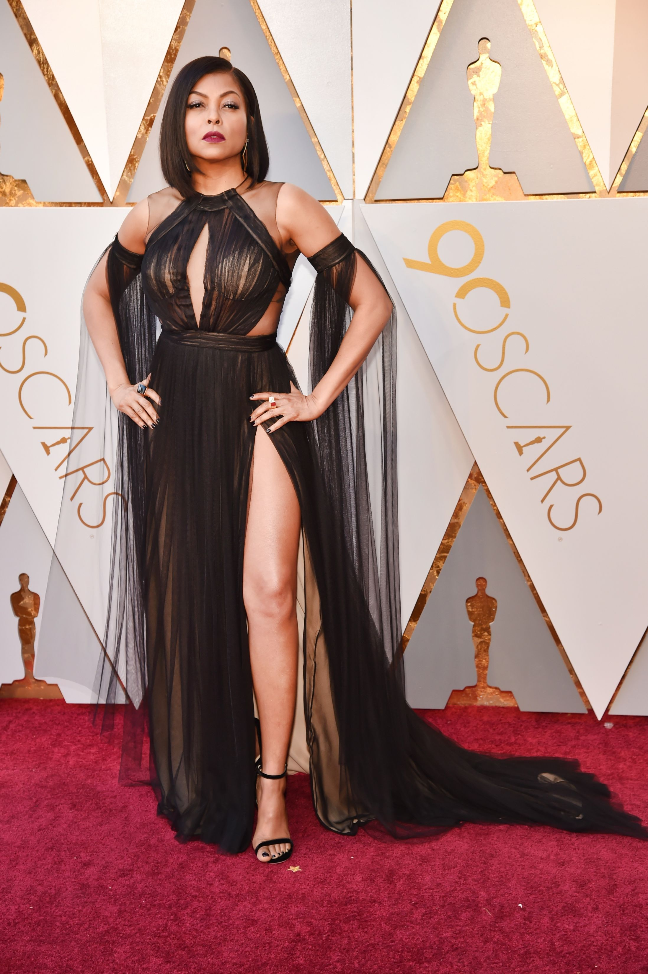 HOLLYWOOD, CA - MARCH 04: Taraji P. Henson attends the 90th Annual Academy Awards at Hollywood & Highland Center on March 4, 2018 in Hollywood, California. (Photo by Kevin Mazur/WireImage)