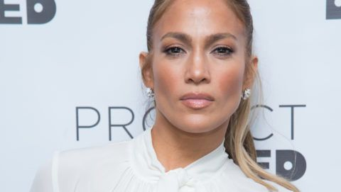 """NEW YORK, NY - MARCH 04:  Jennifer Lopez attends """"Project Destined"""" Yankees Shark Tank Presentations at Yankee Stadium on March 4, 2018 in New York City.  (Photo by Mark Sagliocco/Getty Images)"""