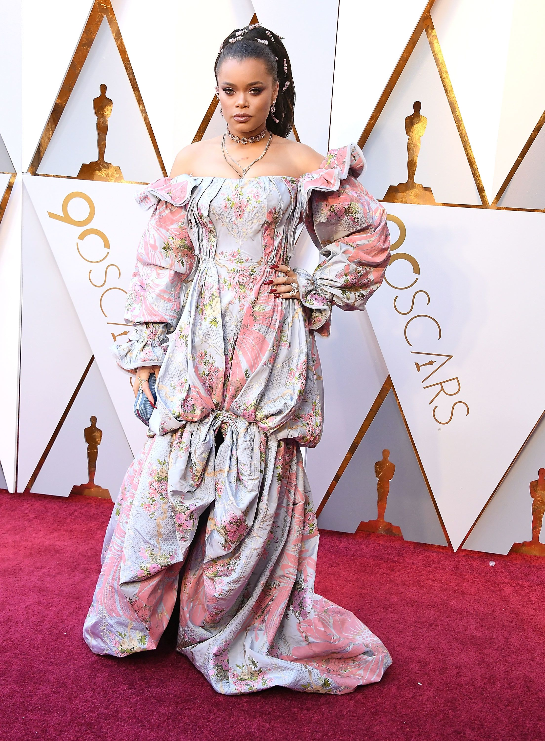 HOLLYWOOD, CA - MARCH 04: Andra Day arrives at the 90th Annual Academy Awards at Hollywood & Highland Center on March 4, 2018 in Hollywood, California. (Photo by Steve Granitz/WireImage)