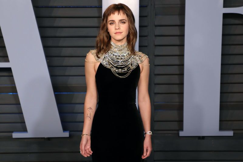 BEVERLY HILLS, CA - MARCH 04:  Emma Watson attends the 2018 Vanity Fair Oscar Party hosted by Radhika Jones at the Wallis Annenberg Center for the Performing Arts on March 4, 2018 in Beverly Hills, California.  (Photo by Taylor Hill/FilmMagic)