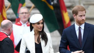 LONDON, ENGLAND - MARCH 12:  (EMBARGOED FOR PUBLICATION IN UK NEWSPAPERS UNTIL 24 HOURS AFTER CREATE DATE AND TIME) Meghan Markle and Prince Harry attend the 2018  Commonwealth Day service at Westminster Abbey on March 12, 2018 in London, England.  (Photo by Karwai Tang/WireImage)