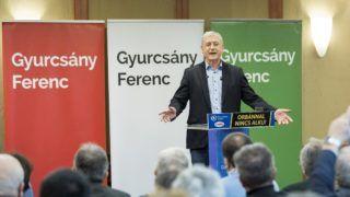 Budapest, 2018. március 25. Gyurcsány Ferenc, a Demokratikus Koalíció (DK) elnöke beszél pártja kampányrendezvényén egy budapesti szállodában 2018. március 25-én. MTI Fotó: Mohai Balázs