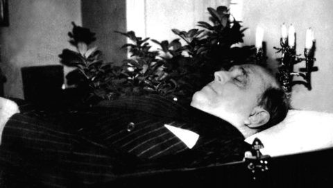 Jan Masaryk, minister of Foreign Affairs, after his suicide. March 12, 1948 Czechoslovakia