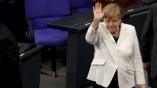 Berlin, 2018. március 14. Angela Merkel német kancellár a parlament 2018. március 14-i ülésén Berlinben. Az ülésen választják meg Merkelt negyedik alkalommal kancellárrá. (MTI/EPA/Omer Messinger)