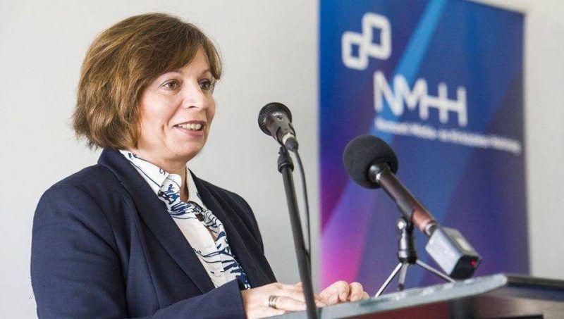 Karas Monika, az NMHH és a Médiatanács elnöke. Fotó: MTI/Komka Péter
