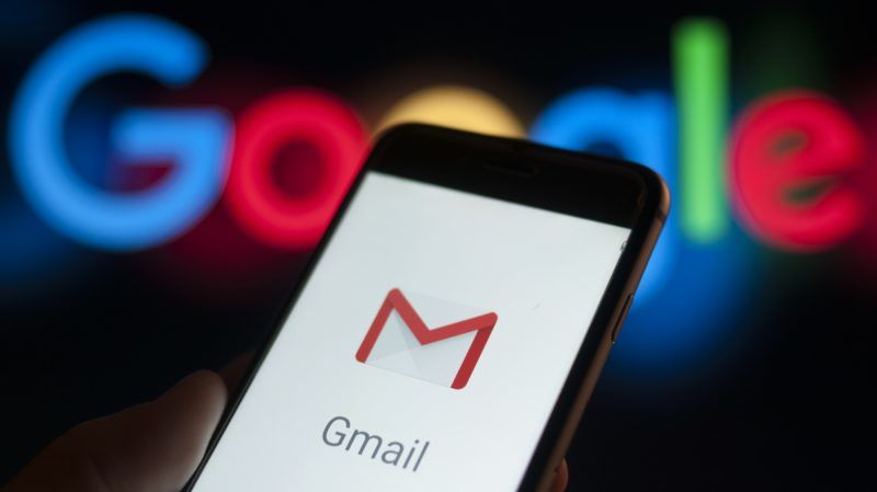 The Gmail email application is seen on a portable device in this photo illustration on December 6, 2017. (Photo by Jaap Arriens/NurPhoto)
