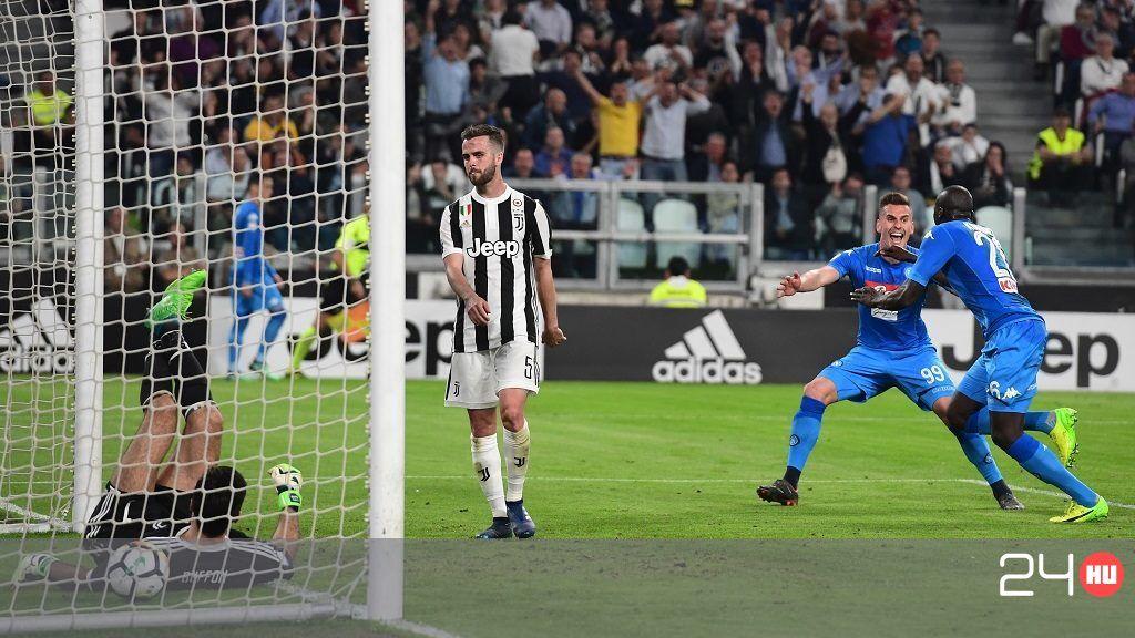 A Napoli 90. percben szerzett góllal verte a Juventust