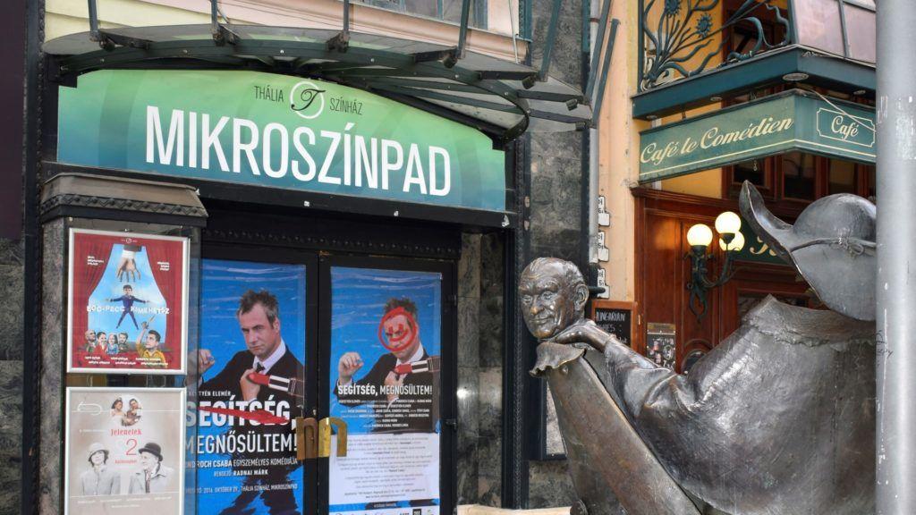 Városkép - Budapest - Hofi-szobor