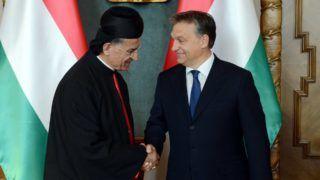 Orbán Viktor fogadja Libanon maronita pátriárkáját a Parlamentben