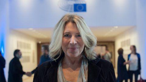 Brüsszel, 2016. november 8. Morvai Krisztina, a Jobbik EP-képviselõje az Európai Parlament (EP) brüsszeli épületében 2016. november 8-án. MTI Fotó: Kallos Bea