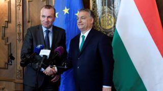 Orbán Viktor és Manfred Weber sajtónyilatkozata