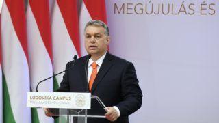 Budapest, 2018. április 4. Orbán Viktor miniszterelnök beszédet mond a Nemzeti Közszolgálati Egyetem (NKE) Ludovika Campusának átadásán 2018. április 4-én. MTI Fotó: Koszticsák Szilárd