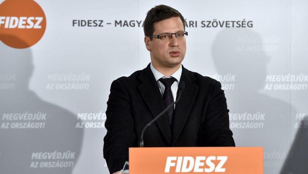 Visegrád, 2018. február 15. Gulyás Gergely, a Fidesz parlamenti frakcióvezetõje sajtótájékoztatót tart a Fidesz-KDNP közös, kétnapos frakcióülésének második napján a visegrádi Silvanus Hotelben 2018. február 15-én. MTI Fotó: Máthé Zoltán