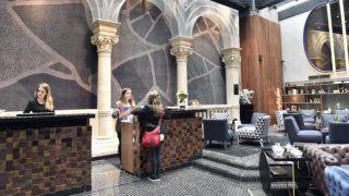 Budapest, 2018. április 5. Recepció az újonnan megnyílt Hotel Clark szállodában az I. kerületi Clark Ádám téren 2018. április 5-én. MTI Fotó: Máthé Zoltán