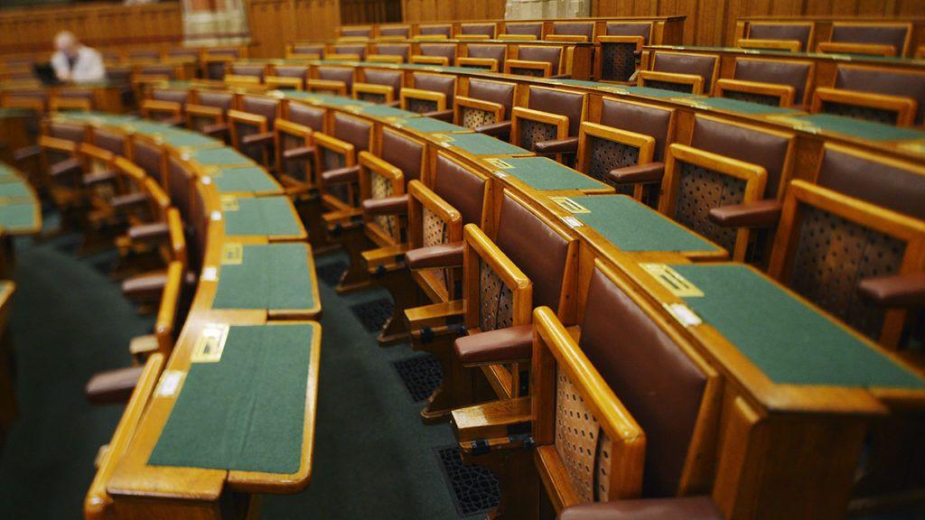 Budapest, 2014. június 2.Az Országház felújított alsóházi ülésterme 2014. június 2-án.MTI Fotó: Beliczay László