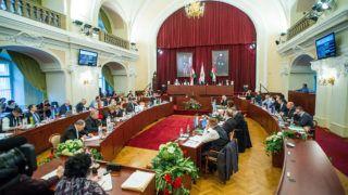 Budapest, 2018. január 24.A Fővárosi Közgyűlés ülése a Városháza dísztermében 2018. január 24-én.MTI Fotó: Balogh Zoltán