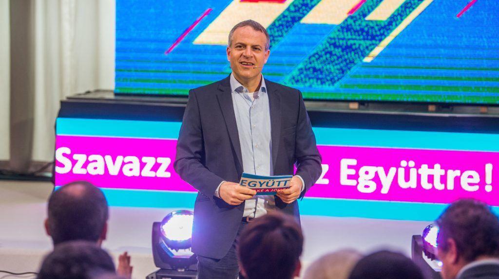 Budapest, 2018. április 5. Juhász Péter, a párt elnöke az Együtt kampányzáró rendezvényén Budapesten a Csepeli Munkásotthonban 2018. április 5-én. MTI Fotó: Balogh Zoltán