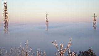 Budapest, 2017. január 2. Adótornyok a felhõk felett a Hármashatár-hegyen 2017. január 2-án. MTI Fotó: Mohai Balázs