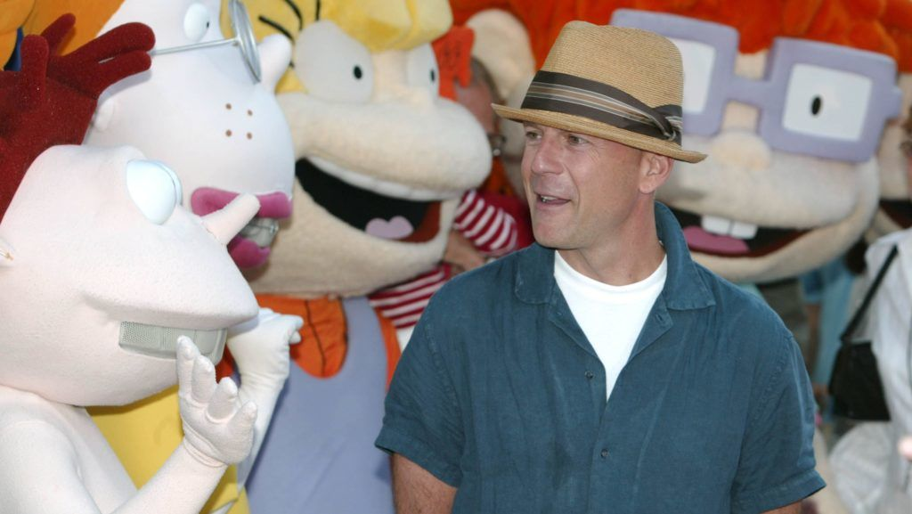 """Bruce Willis during World Premiere of """"Rugrats Go Wild"""" at Hollywood in Hollywood, California, United States. (Photo by Chris Polk/FilmMagic)"""