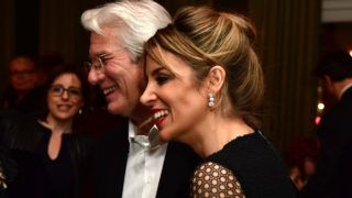 BERLIN, GERMANY - FEBRUARY 10: US actor Richard Gere and Alejandra Silva arrive at THE DINNER drinks reception with Grey Goose at Soho House Berlin during the 67th Berlinale International Film Festival Berlin at  on February 10, 2017 in Berlin, Germany. (Photo by Alexander Koerner/Getty Images)
