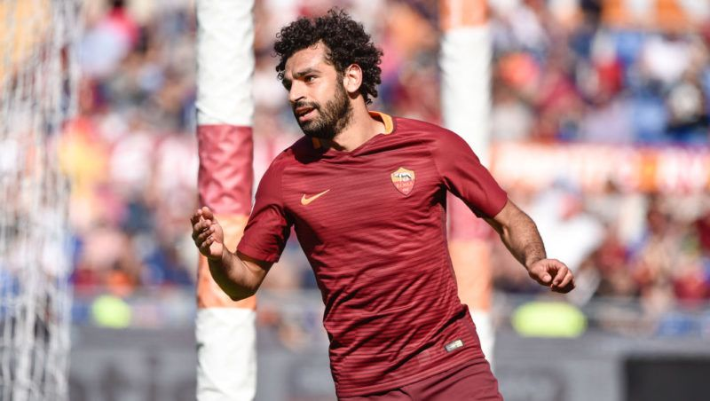 Mohamed Salah of AS Roma looks dejected during the italian Serie A match between Roma and Atalanta at the Olympic Stadium, Rome, Italy on 15 April 2017. (Photo by Giuseppe Maffia/NurPhoto via Getty Images)