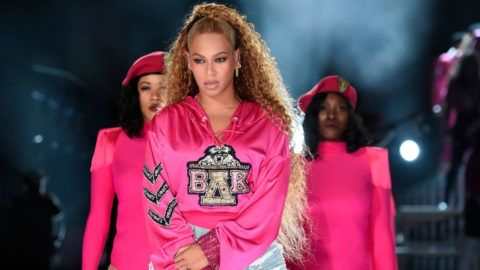 INDIO, CA - APRIL 21:  Beyonce Knowles performs onstage during the 2018 Coachella Valley Music And Arts Festival at the Empire Polo Field on April 21, 2018 in Indio, California.  (Photo by Kevin Mazur/Getty Images for Coachella)