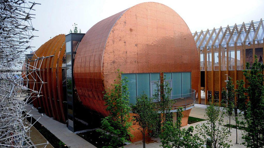 Milánó, 2015. május 6.A magyar pavilon a milánói világkiállításon, az Expo 2015-ön 2015. május 5-én. (MTI/EPA/Stefano Porta)